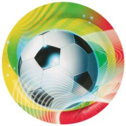 balony, balony na hel, dekoracje balonowe, balony Łódź, balony z nadrukiem, Talerze Football party 23 cm 8szt.