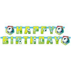 balony, balony na hel, dekoracje balonowe, balony Łódź, balony z nadrukiem, Baner Football party 180 x 15 cm