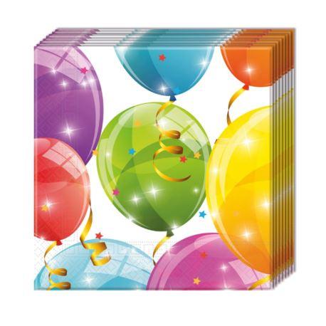 "Serwetki ""Sparkling Balloons"", 33x33 cm, 20 szt."