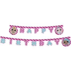 Banner Happy Birthday LOL Glitterati, 210 cm
