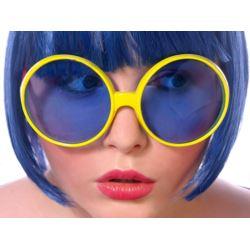 Okulary Pilotki, żółty, 1 szt.