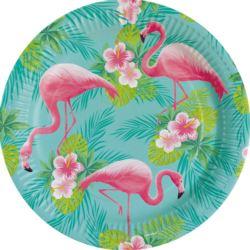 Talerze papierowe Flamingo Paradise 23 cm 8 szt.
