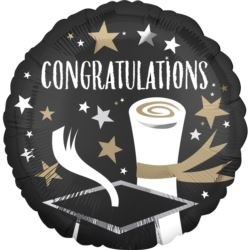 "Balon foliowy standard ""Congratulations Grad"" 43cm"