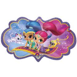 """balony, balony na hel, dekoracje balonowe, balony Łódź, balony z nadrukiem, Balon foliowy SuperShape """"Shimmer & Shine"""" 68x40cm"""