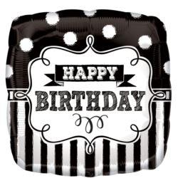 Balon foliowy standard Happy Birthday 43cm
