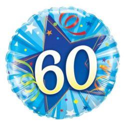 """Balon, foliowy 34"""" QL Number """"9"""", niebieski"""