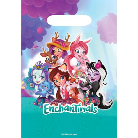 "Image of 8 Torebki prezentowe ""Enchantimals"", plastik"