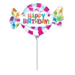 Balon foliowy MiniShape Urodziny na patyczek