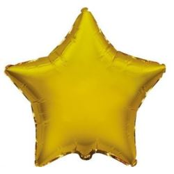 """Balon, foliowy JUMBO FX - """"Gwiazda""""( złoto)"""