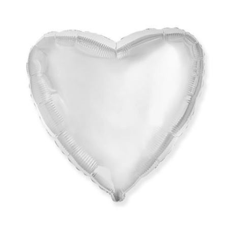 """Image of Balon foliowy 18"""" FX - """"Serce"""" (białe)"""