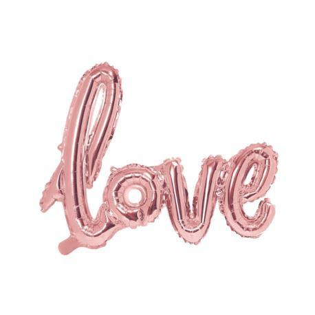 Balon foliowy Love, różowe złoto, 73x59cm