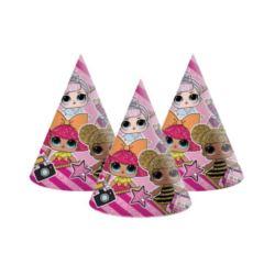 Czapeczki papierowe LOL Glitterati, 6 szt.