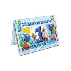Zaproszenie Roczek (niebieskie) 10 szt.