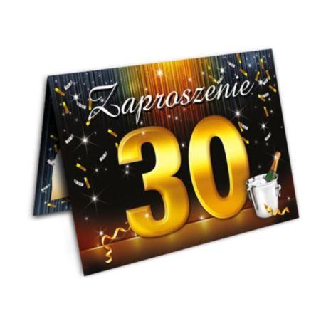Zaproszenia urodzinowe na 30-tke 10 szt.