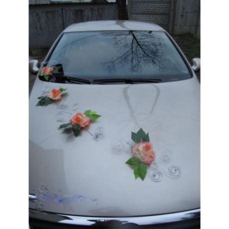 Dekoracja na samochód z drucikami na przyssawkach