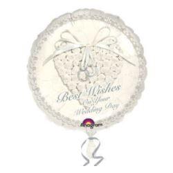 """balony, balony na hel, dekoracje balonowe, balony Łódź, balony z nadrukiem, Balon, foliowy 18"""" CIR - """"With This Ring Wedding"""""""