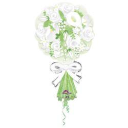 balony, balony na hel, dekoracje balonowe, balony Łódź, balony z nadrukiem, Balon, foliowy Bukiet dla Pani Młodej 45x76 cm