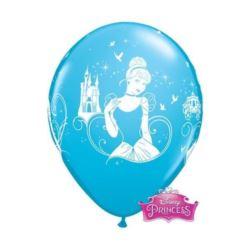 """Balon QL 12"""" z nadr.""""Cinderella"""", pastel błękitny"""