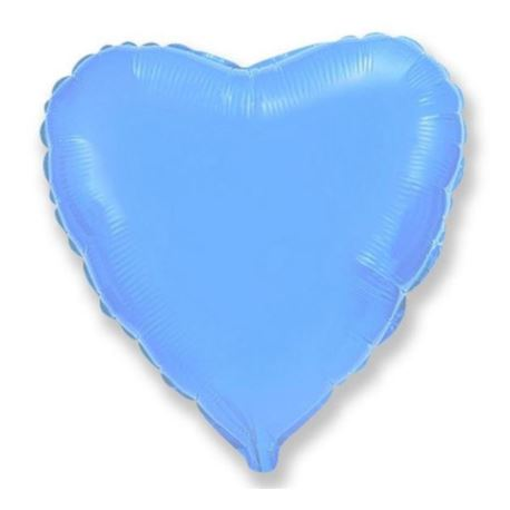"""Image of Balon, foliowy 18"""" FX - """"Serce (błękitny)"""