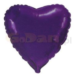 "Balon, foliowy JUMBO FX - ""Serce"" (fioletowe)"