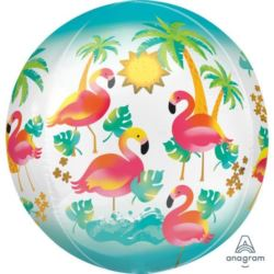 "Balon foliowy Orbs- ""Let`s Flamingle"" 1 szt."