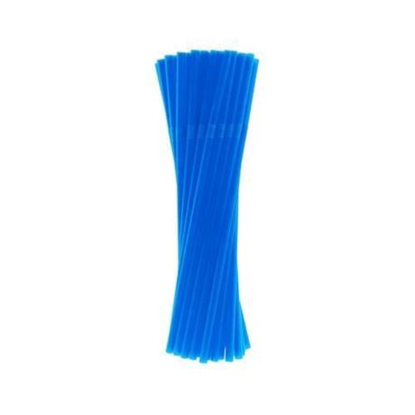 Rurki (słomki) łamane niebieskie 5x210mm/40 szt.