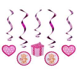 balony, balony na hel, dekoracje balonowe, balony Łódź, balony z nadrukiem, Misiowe świderki różowe dł 60 cm, 1 op
