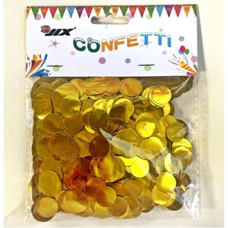 Konfetti 50 g 1,5 cm, złoty