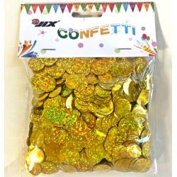 Konfetti 50 g 1,5cm holo gold, 1 szt.