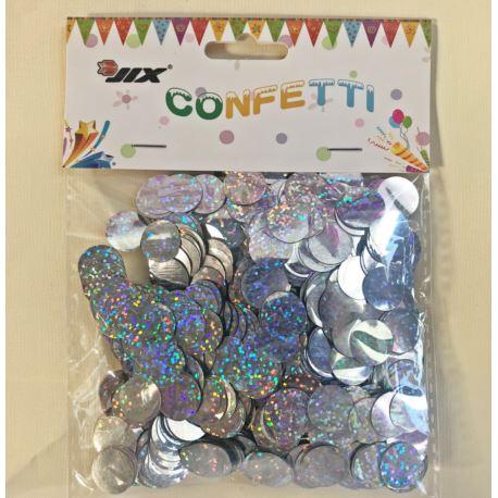 Konfetti 50 g 1,5 cm holo silver, 1 szt.