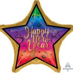 "Balon foliowy Jumbo gwiazda ""Colorful New Year"""
