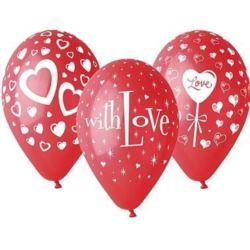 """Balony premium """"Love"""", 12"""" / 5 szt."""