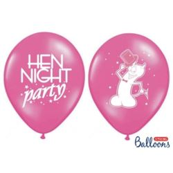 Balony 30cm, Hen night party, P. Hot Pink