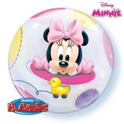 """balony, balony na hel, dekoracje balonowe, balony Łódź, balony z nadrukiem, Balon, foliowy 22"""" QL Bubble Poj.""""Baby Minnie"""""""