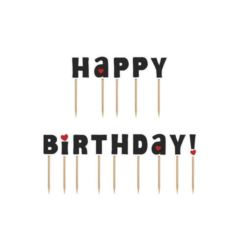 Karteczki na piku Happy Birthday!, 9,2cm