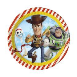 Talerzyki papierowe Toy Story 4, 23 cm, 8 szt.