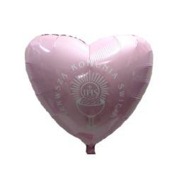 """balony, balony na hel, dekoracje balonowe, balony Łódź, balony z nadrukiem, Balon, foliowy 18"""" FX - """"Serce"""" j.różowe Komunia"""