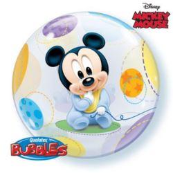 """balony, balony na hel, dekoracje balonowe, balony Łódź, balony z nadrukiem, Balon, foliowy 22"""" QL Bubble Poj, """"Baby Mickey"""""""