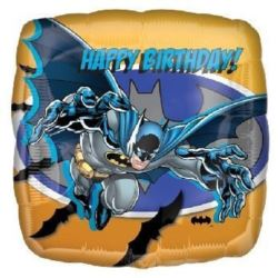 "Balon, foliowy 18"" SQR ""Batman Happy Birthday"""