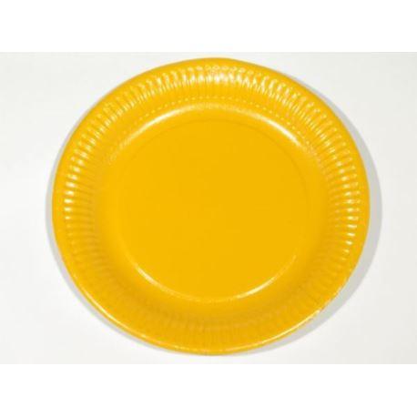 Talerze papierowe 23 cm. pomarańczowe 20 szt.