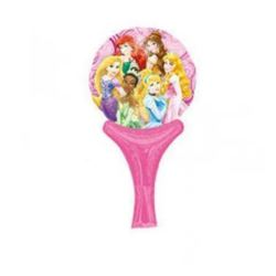"""Balon, foliowy 14"""" z rączką i zaworem -""""Princesses"""