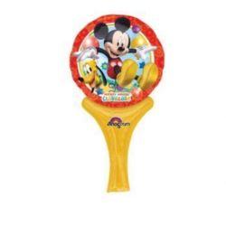 """Balon, foliowy 14"""" z rączką i zaworem - """"Mickey"""""""