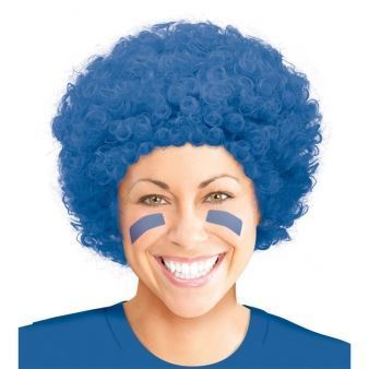 "Peruka ""Afro"" niebieska"