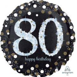 """Balon foliowy Jumbo""""80-urodziny"""" 71x71cm"""