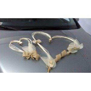Dekoracja na samochód Ratan Natural,przyssawk