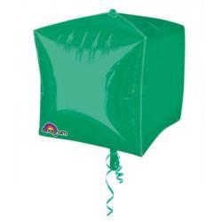 """Balon, foliowy 15"""" CBZ - sześcian zielony 1 szt."""