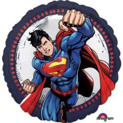 """balony, balony na hel, dekoracje balonowe, balony Łódź, balony z nadrukiem, Standard """"Superman"""" balon foliowy okragly"""