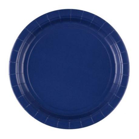 Talerze 22,8 cm - niebieskie 8 szt.