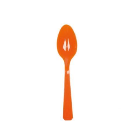 Łyżki plastikowe - pomarańczowy 10 szt.