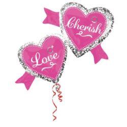 """balony, balony na hel, dekoracje balonowe, balony Łódź, balony z nadrukiem, Balon, foliowy """"Love"""" 97x38 cm"""